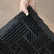 Outdoor Rubber Rugs Alpine Neighbor Doormat Low Profile Outdoor Black Door Mat