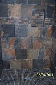 Slate Tile Bathroom Shower Slate Tile Bathrooms Bathroom With Slate Tiles Bathroom Designs