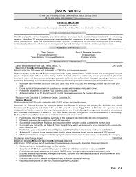 General Manager Resume Sample Resume Hospitality Manager Resume