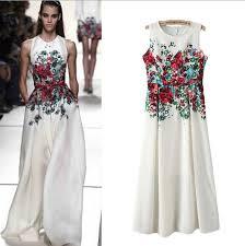 flower embroidered u0026 floral print formal dresses for girls 2015 16