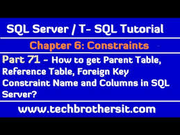 find all foreign keys referencing a table sql server how to get parent table reference table foreign key constraint