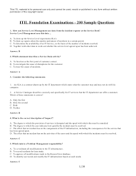 incident report template itil itil foundation v2 200 sle questions