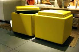 Mustard Yellow Ottoman Fashionable Yellow Ottomans Yellow Storage Ottoman Home
