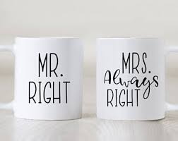 his and hers wedding gifts wedding mugs etsy