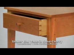 shaker end table plans shaker end table hand made in solid cherry by doucette and wolfe