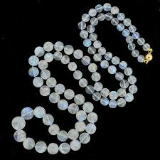 bead necklace clasp images Estate rainbow moonstone bead necklace with 14kt clasp a brandt jpg