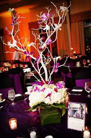 white and purple tree wedding centerpiece ideawedwebtalks