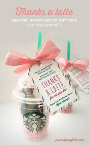 thanks a latte appreciation gift idea with free printable