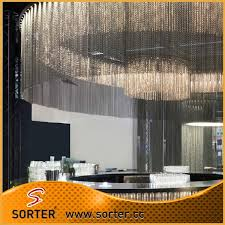 decorative metal ball chain curtain hanging curtain room divider