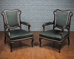 Low Armchairs Pair Low Armchairs C 1890 Antiques Atlas