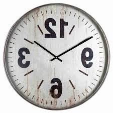 Uttermost Clocks Home Design Decorating Amusing Oversized Wall Clock For