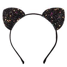 sparkly headbands black glitter cat ears headband s us