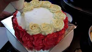 anniversary rose cake with whipped cream how to make rose swirl
