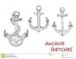 drawn anchor pirate ship pencil and in color drawn anchor pirate