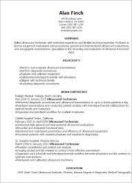 Most Effective Resume Template Sonographer Resume Haadyaooverbayresort Com