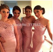 popular peach bridesmaid dress lace buy cheap peach bridesmaid