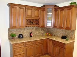 Kitchen Cupboard Interior Storage Interior Corner Brown Wooden Kitchen Cabinet With Drawers And