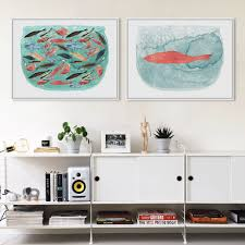 Fish Home Decor Compare Prices On Painting Fish Tank Online Shopping Buy Low