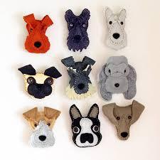 handmade felt dog brooch felt dogs handmade felt and brooches
