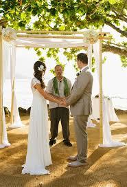 Bamboo Chuppah St Regis Princeville Destination Wedding