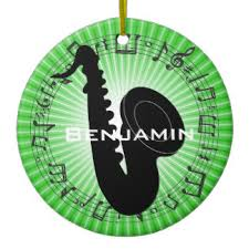 green saxophone ornaments keepsake ornaments zazzle