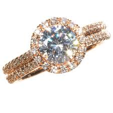 Gold Wedding Rings by Attractive Hue Of Rose Gold Engagement Rings Cherry Marry