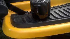 cub cadet oil change youtube