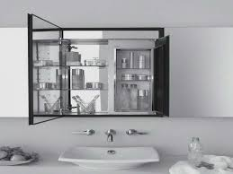 Bathroom Cabinets Espresso Bathroom Mirror Medicine Cabinet Bathrooms Design Simple Rectangle Brown Wood Mirror Medicine