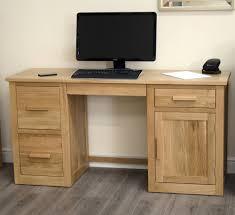 Oak Effect Computer Desk Great Office Simple But Captivating Light Oak Computer Desk