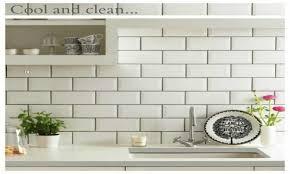 white subway tile backsplash black grout ideas for kitchen l with