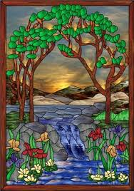 Decorative Window Film Stained Glass Decorative Window Film Stained Glass Magnolia And Irises Faux