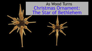 woodturning christmas ornaments the star of bethlehem youtube