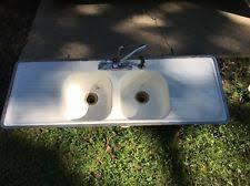 Old Kitchen Sink With Drainboard by Cast Iron Sink Ebay