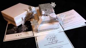 box wedding invitations snowflake exploding box wedding invitation