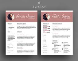 Modern Resume Templates Word Cv Template Clean Resume Resume Template Word Modern Resume