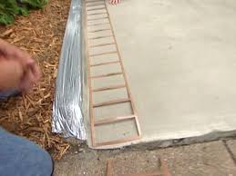 Painting A Cement Patio by How To Decorate Concrete With A Brick Pattern How Tos Diy