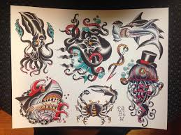 nautical traditional tattoo flash iii