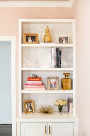 The Styling Hutch Home Office Bookshelves With Phillip Jeffries Grasscloth Backing