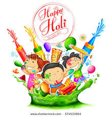 illustration colorful happy holi background festival stock vector