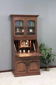 Small Hutch For Desk Top Desk Gorgeous Amish Executive Deluxe Secretary Desk With Hutch