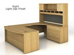 C Shaped Desk Bush Series C U Shaped Executive Office Desk With Hutch