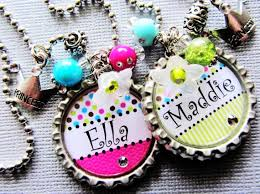 best flower girl gifts princess crown personalized name bottle cap necklace gift