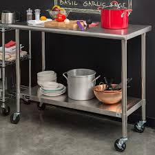 Stainless Kitchen Table by Trinity Ecostorage Stainless Steel Table 48 U201d X 24 U201d X 35 U201d Nsf