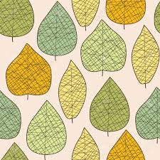seamless stylized autumn leaf pattern royalty free cliparts