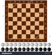 checkers ancient intellectual board game chess stock vector