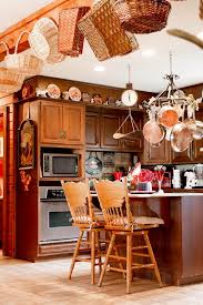 Country Kitchen Ceiling Lights by Decorating Above Kitchen Cabinets With Baskets Kitchen Farmhouse