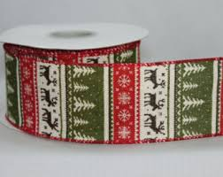 wide christmas ribbon christmas ribbon etsy