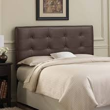 buy tufted leather upholstered headboard size california king