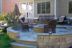 landscaping around square brick patio garden penaime