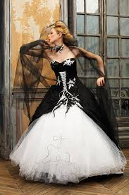 black and white wedding dresses 30 ideas of beautiful black and white wedding dresses the best